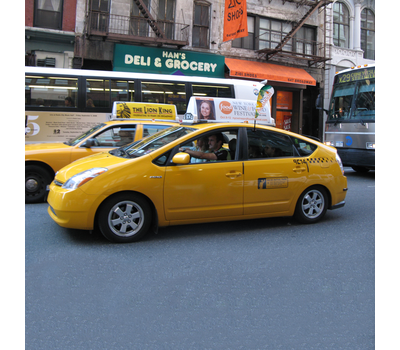 The Car Bowflag® Angled is perfect for taxis and your clients who provide transportation.