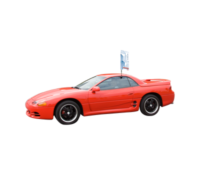 Car Bowflag® Rectangular gives your clients the ability to advertise on the go!