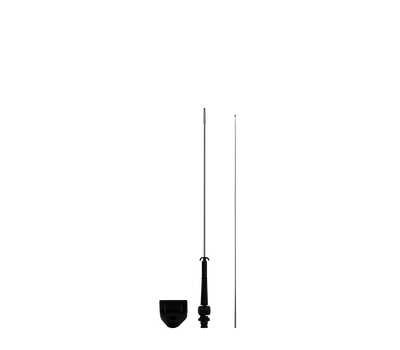 The Car Bowflag® Drop attaches to the pole by sliding the pole through the pole sleeve and attaching the bungees.