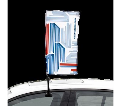 Car Bowflag® Rectangular- a one-of-a-kind Bowflag® shape made for cars.