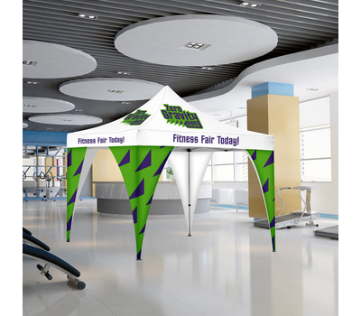Tent Corner Banners are made for indoor and outdoor use, so your client can use them wherever they want