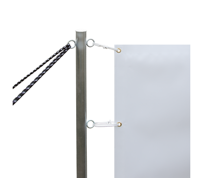Print attaches to posts with included bungees