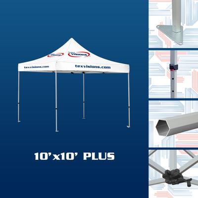 10' x 10' Plus tent offered in aluminum finish