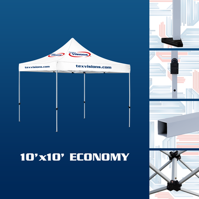 10' x 10' Economy tent offered in steel finish