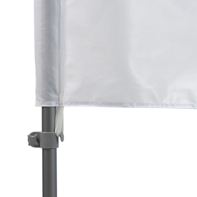 Tab attaches to the pole set to ensure flag doesn't fly away in the wind
