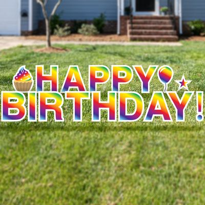 Happy Birthday Yard Letters