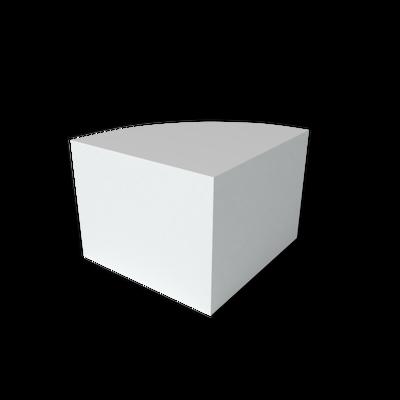 Display is shaped like a pie piece