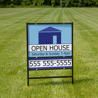 Customize any real estate information on one of these signs