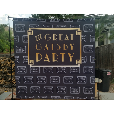 Step and repeat backdrop for a client
