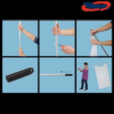 6ft Hand Grip Flag Pole