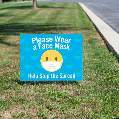 Please Wear a Face Mask Yard Sign
