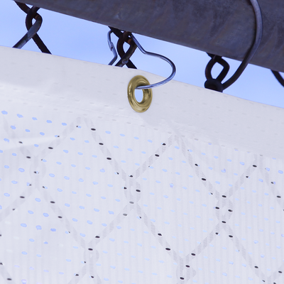 Pear Snap Hooks easily snap onto chain link fences for an easy mounting tool