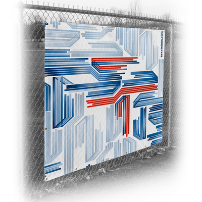 Fence Wrap printed on Varioflag A fabric material