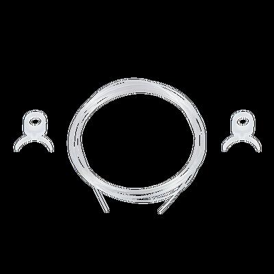 "Aluminum Keder Profile Dia. 0.6"" Hanging Set"