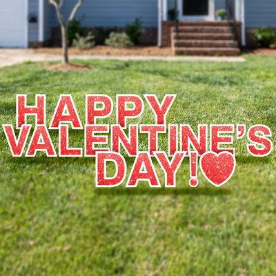 Happy Valentine's Day yard cards