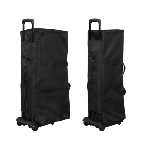 Smaller and larger carrying cases can be used on the optional Pop Up Trolley if desired