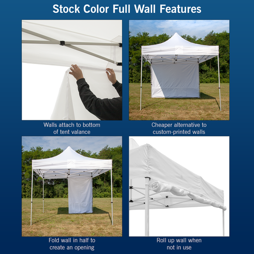 Features of our stock color walls