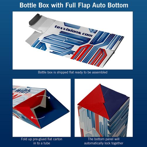 Bottle Box with Full Flap Automatic Bottom explained