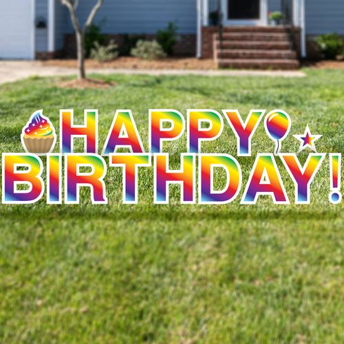 Happy Birthday Yard Letters