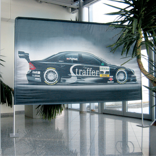 The Display Wall is versatile for use indoors as a custom backdrop, divider, or point-of-purchase display