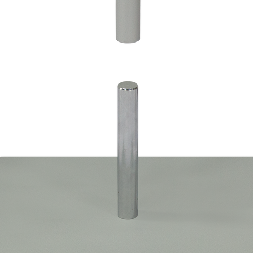 Simply mount the aluminum pole onto the steel plate for a sturdy base structure