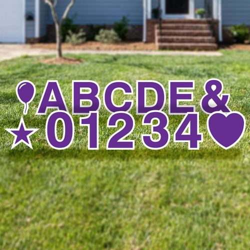 Yard Letter Number & Alphabet Set
