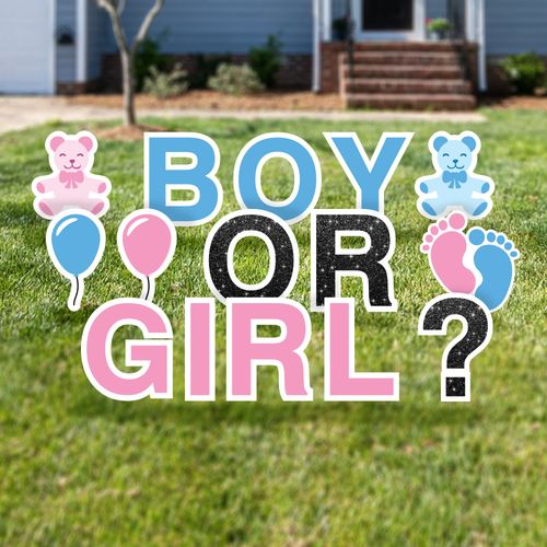 Gender Reveal Yard Card