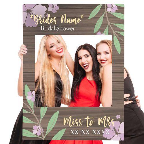 Bridal shower selfie frame