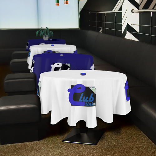 Great for use in restaurants, at formal receptions or tradeshow booths.